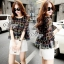 Sevy Two Pieces Of Bubble Chiffon Blouse With White Shorts Suit Sets thumbnail 3
