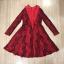 Cliona made'Red Sky 2 Tone Lace Luxury Dress - mini dress thumbnail 7