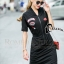 Cliona made' Amazing Kiss Luxury Jump Dress - Dressสีดำ ดีไซ Sport Girls thumbnail 2