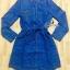 Sevy Long Sleeve Golden Peg Shirt Style Denim Mini Dress thumbnail 5