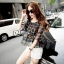 Sevy Two Pieces Of Bubble Chiffon Blouse With White Shorts Suit Sets thumbnail 2