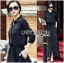 &#x1F380 Lady Ribbon's Made &#x1F380 Lady Elise Minimal Black Cotton Maxi Shirt Dress thumbnail 3