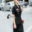Cliona made' Amazing Kiss Luxury Jump Dress - Dressสีดำ ดีไซ Sport Girls thumbnail 4
