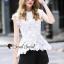 Seoul Secret Say's... White Daisy Cami Blouse thumbnail 4