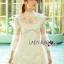 &#x1F380 Lady Ribbon's Made &#x1F380 Lady Hannah Little Princess Pure White Lace and Polyester Mini Dress thumbnail 2