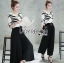 &#x1F380 Lady Ribbon's Made &#x1F380 Breton stripe & Kyros high waist pant with belt. thumbnail 1
