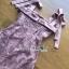 🎀 Lady Ribbon's Made 🎀Lady Eleanor Summer-Time Feminine Ribbon-Strap Lace Mini Dress thumbnail 4