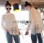 &#x1F380 Lady Ribbon's Made &#x1F380 Lady Cassandra Classic Vintage White Lace & Crepe Blouse thumbnail 1