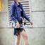 Korea Design By Lavida striped prison stars denim jacket thumbnail 6