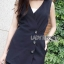 &#x1F380 Lady Ribbon's Made &#x1F380 Lady Margaret Minimal Chic Basic Jumpsuit with Choker thumbnail 3