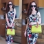 Sevy Forked Spade Flora Ribbon Shoulder Mini Dress thumbnail 4