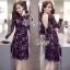 Sevy Color Mixed Sexy Back Lace Dress thumbnail 1