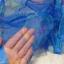ม่านกันยุงแบบพิมพ์ลาย ไชส์ 100 สีฟ้า/ดอกไม้ประดับลาย thumbnail 2