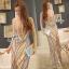 Sevy Elegant Golden Curve Line Gala Dress thumbnail 2