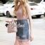 Seoul Secret Say's... Pinky Pleat Net Frienge Denim Skirt Lace Tops Set thumbnail 3
