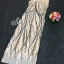 Sevy Elegant Golden Curve Line Gala Dress thumbnail 6