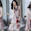 Seoul Secret Say's... Girly Bohe Style Stick&Print Outer Dress set thumbnail 2