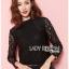 &#x1F380 Lady Ribbon's Made &#x1F380 Lady Becca Smart Elegant High-Neck White Lace Blouse thumbnail 1