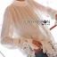 &#x1F380 Lady Ribbon's Made &#x1F380 Lady Cassandra Classic Vintage White Lace & Crepe Blouse thumbnail 2