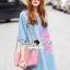 Seoul Secret Say's... Pastel Fink Paint Denim Dress thumbnail 1