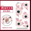 เคส oppo a77 (f3) ซิลิโคนลายดอกไม้สีชมพู