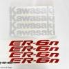 สติ๊กเกอร์ขอบล้อใน สีแดง ขาว FOR KAWASAKI ER6N