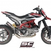 ท่อ SC PROJECT FULL SYSTEM 2-1 WITH CR-T SILENCER - HIGH POSITION FOR HYPERMOTARD 821
