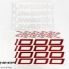 สติ๊กเกอร์ขอบล้อใน สีแดง ขาว FOR KAWASAKI Z1000