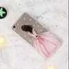 เคส oppo a77 (f3) ซิลิโคนนิ่มลายหญิงสาวเดรสชมพู