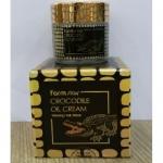 Farmstay Crocodile Oil Cream 70 g. ครีมน้ำมันจระเข้สุดฮิตจากเกาหลี เคล็ดลับผิวสวย ใช้ดีแล้วบอกต่อโดยพระนางคลีโอพัตตราช่วยลดเลือนริ้วรอย ฟื้นฟูรอยแผลเป็น ปลุกผิวเกิดใหม่ ให้ผิวนวลเนียนสดใสดั่งผิวเด็ก ทั้งยังช่วยเพิ่มความชุ่มชื้นแก่ผิวที่แห้งกร้าน คัน แพ้