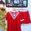SET เซ็ตเสื้อ+กางเกงขาสั้น งานเก๋มากค่ะตัวนี้ เสื้อผ้าคอตต้อนสีแดงดีเทลสวยด้วยช่วงคอวีแต่งกุ๊นแดงสลับขาว มาพร้อมกับกางเกงขาสั้นสม็อคเอวผ้าเดียวกัน สไตล์สาวสปอร์ตน่ารักค่ะ thumbnail 6