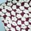 KOKO club เสื้อทรงเบลาซ์ แขนสั้น สีเลือดหมูปักลายดอกไม้ด้ายสีขาว รูดซิบหลังได้จนสุดถอดซิบได้ thumbnail 10