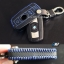 เคสกุญแจหนัง บีเอ็มดับเบิ้ลยู E series สีเทาเข้ม เย็บด้วยด้ายแดง / น้ำเงิน thumbnail 5