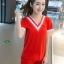 SET เซ็ตเสื้อ+กางเกงขาสั้น งานเก๋มากค่ะตัวนี้ เสื้อผ้าคอตต้อนสีแดงดีเทลสวยด้วยช่วงคอวีแต่งกุ๊นแดงสลับขาว มาพร้อมกับกางเกงขาสั้นสม็อคเอวผ้าเดียวกัน สไตล์สาวสปอร์ตน่ารักค่ะ thumbnail 3