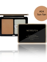 Merrez'ca Excellent Covering Skin Setting Pressed Powder #24 Sun Tan