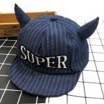 หมวกเด็ก พรีเมี่ยม แก๊ปยีนส์ Super (เข้ม)