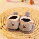 ถุงเท้าเด็ก สลิปเปอร์ ลายหมีเทา