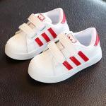 รองเท้าเด็ก รองเท้าพื้นแข็ง ทรงกีฬา (แดง)