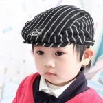 หมวกบาเรตเกาหลี CA ลายทาง สีดำ