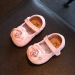 รองเท้าเด็ก รองเท้าพื้นแข็ง แซนเดิล กุหลาบ (ชมพู)