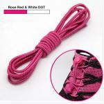 เชือกผู้รองเท้าพร้อมตัวล็อค shoestring lock NewStyle สีบานเย็น / Rose Red
