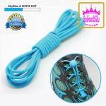เชือกผู้รองเท้าพร้อมตัวล็อค shoestring lock NewStyle สีฟ้า / Blue Sky