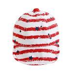 หมวกแก๊ปเกาหลี AC ลายแดง