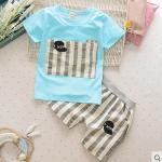 Baby Touch เสื้อยืดและกางเกง เกาหลี (นิวยอร์คฟ้า)