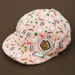 หมวกเด็ก แก๊ป ถุงมือเบสบอล (ชมพู)