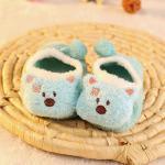 ถุงเท้าเด็ก สลิปเปอร์ ลายหมีฟ้า