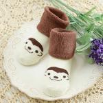 ถุงเท้าเด็ก ข้อเท้าหนา รูปสัตว์ (ลิง)