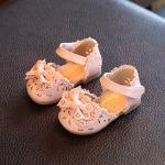 รองเท้าเด็ก รองเท้าพื้นแข็ง แซนเดิล เจ้าสาว (ชมพู)