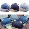 Baby Touch หมวกเด็ก พรีเมี่ยม แก๊ปยีนส์ แมวมีหู (Hat - BAA)