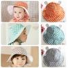 Baby Touch หมวกเด็ก ปีกรอบลายจุด (Hat - DD)